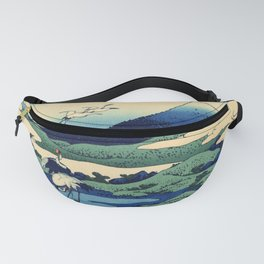 Hokusai's Umegawa in Sagami Province (High Resolution) Fanny Pack