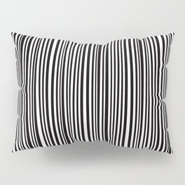Simply small black and white handrawn stripes - vertical - Mix & Match with Simplicty of life Pillow Sham