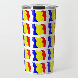 Flag of romania-romania,romanian,balkan,bucharest,danube,romani,romana,bucuresti Travel Mug