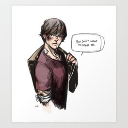 hurt!sam (supernatural) Art Print