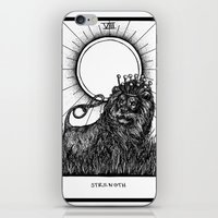tarot iPhone & iPod Skins featuring Strength Tarot by Corinne Elyse