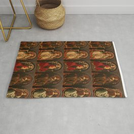 """Sandro Botticelli and Piero del Pollaiolo """"Theological and cardinal virtues"""" Rug"""