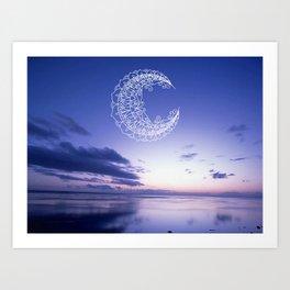 Bohemian Moon Art Print
