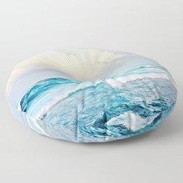 Blue Water Fluffy Clouds Floor Pillow