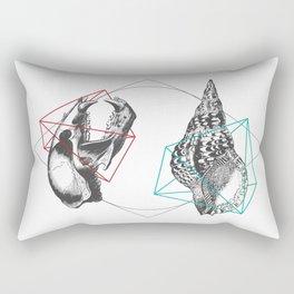 Skull and a Sea Shell Rectangular Pillow