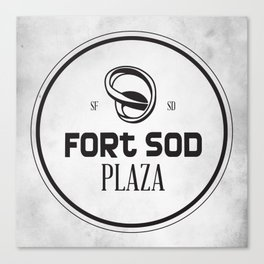 Fort Sod Plaza Canvas Print