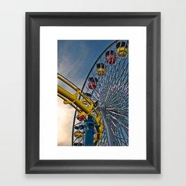 Pier Rides Framed Art Print
