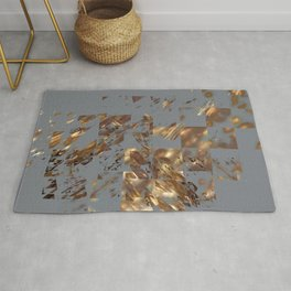 Bronze on Gray Square #abstract #society6 #decor #geometry Rug