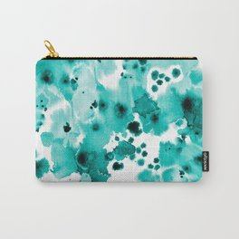 Marina - abstract free brushstroke ink spots painting watercolor art dorm hipster college beach Carry-All Pouch
