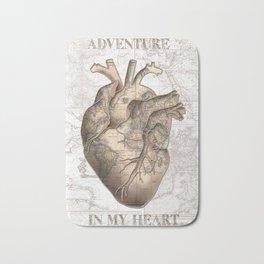 adventure heart-world map 1 Bath Mat