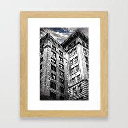 Boston [Sky cut 413] Massachussets, Usa Framed Art Print