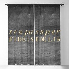 Semper Fidelis Blackout Curtain