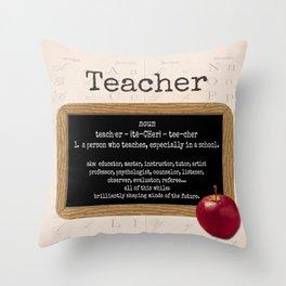 Teacher-Apple Throw Pillow