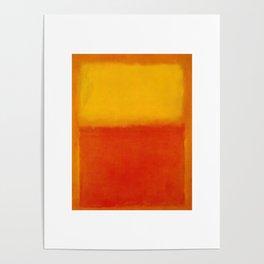 1956 Orange and Yellow by Mark Rothko Poster