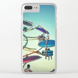 Riding Up to the Sky Clear iPhone Case
