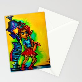 Voodoo doll saxophone player Stationery Cards