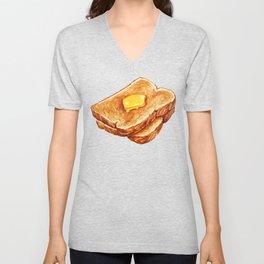 Toast Pattern Unisex V-Neck