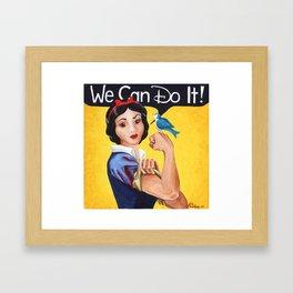 Rosie the Riveter, We Can Do It Framed Art Print