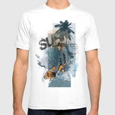 Surf White MEDIUM Mens Fitted Tee