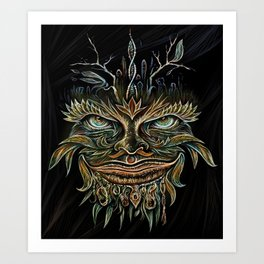 Forest Elemental Color Art Print