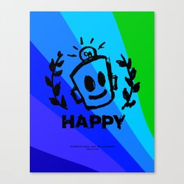 International Day of HAPPINESS Canvas Print
