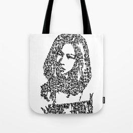 Kanji Calligraphy Art :woman's face #31 Tote Bag