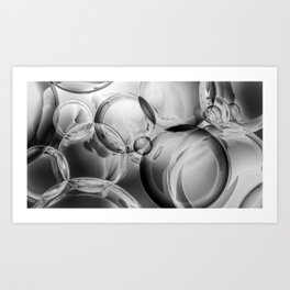 Bubble Noir Art Print
