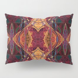 The Jeweled Scarab- Ruby Art Deco Pillow Sham