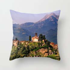 Town of Barga Throw Pillow