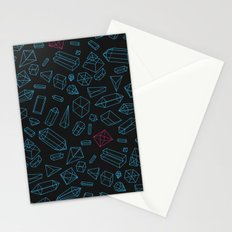 Crystals Pattern Stationery Cards