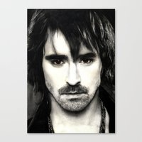 lee pace Canvas Prints featuring Pace Lee in watercolors by Fatima Alshaali