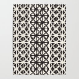 B&W Tribal #society6 #tribal Poster