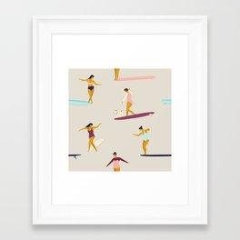 Dancers of the sea Framed Art Print