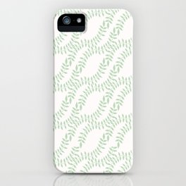 Pastel Leaves Intertwined Seamless Pattern Hand Drawn Nature iPhone Case