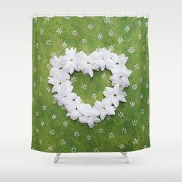 Green Love Shower Curtain
