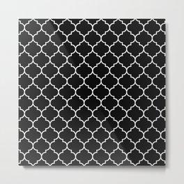 Quatrefoil - Black Metal Print
