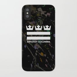 Swedish Columbia Logo (Classic) iPhone Case