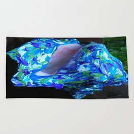 Conque turquoise Beach Towel