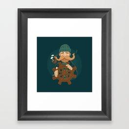 Oh Captain Framed Art Print