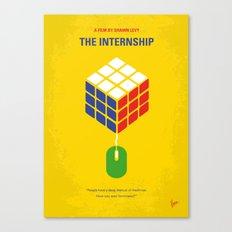 No215 My The Internship minimal movie poster Canvas Print