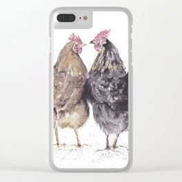 Hens Clear iPhone Case