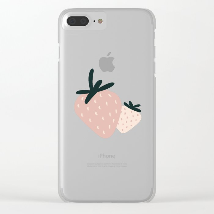 Berry Duo Clear iPhone Case