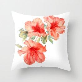 Azalea Painting Throw Pillow