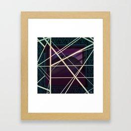 Crossroads - purple graphic Framed Art Print