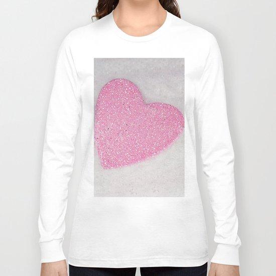 Pink Snow heart Long Sleeve T-shirt