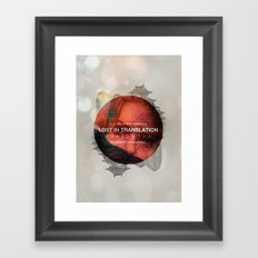 Lost in Translation - Charlotte/Scarlett Framed Art Print