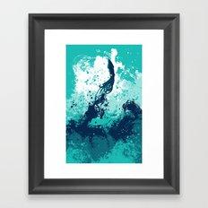 Squid Splash Framed Art Print