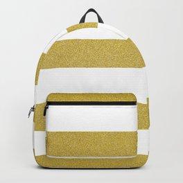 Stripes, Parallel Lines, Gold Glitter Backpack
