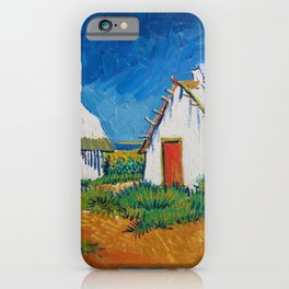 Three white cottages in Saintes-Maries by Vincent van Gogh iPhone Case