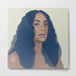 Solange // Cranes In The Sky Illustration // Knowles Metal Print